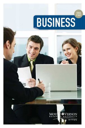 Business Department Brochure