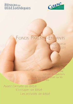 Fonds Parents-enfants 2009