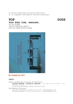 Top dogs - Dossier de presse