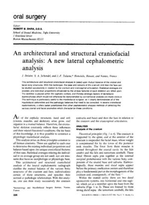 An architectural and structural craniofacial analysis a new lateral cephalometric analysis J Delaire