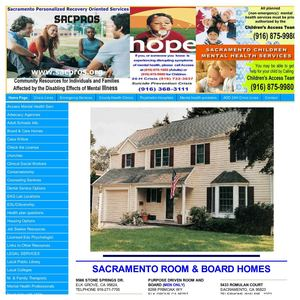 Sacramento County  ROOM & BOARD HOMES