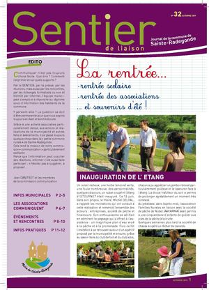 Journal de la commune de Sainte-Radegonde n° 32