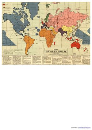 1942 POST-WAR NEW WORLD MAP by Maurice Gomberg