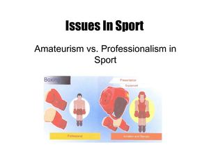 Amateurism vs Professionalism in Sport.