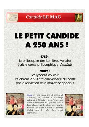 Candide LE MAG