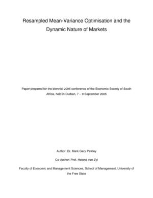 Resampled Mean-Variance Optimisation and the Dynamic Nature of Markets