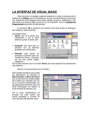 La Interfaz de Visual Basic