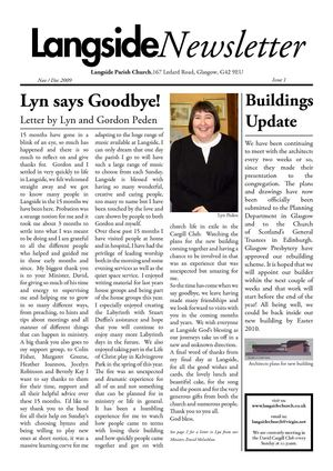 Langside Parish Church Newsletter - Nov/Dec 09
