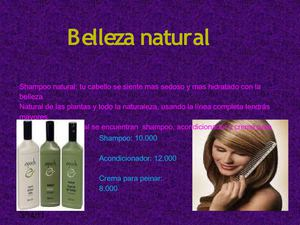 catalogo de productos de belleza natural.