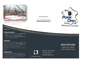 Plaquette invitation NHPOKEROPEN