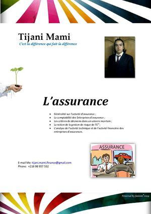 """the essential of insurance/ l'essentielle d'assurance"" by/par Tijani Mami"