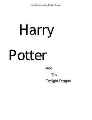 Harry Potter and The Twilight Dragon
