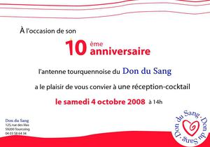 Invitation Don du Sang