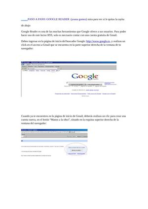 TUTORIAL:GOOGLE READER