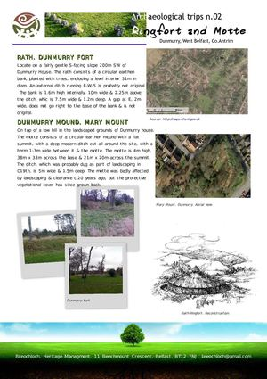 Archaeological trips n.2 Ring Fort and Motte. Dunmurry, Belfast