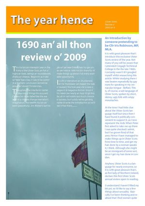 1690 an' all thon Review o' 2009