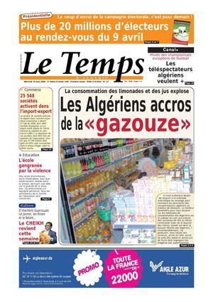 Calaméo - Le Temps d Algérie www.letempsdz.com édition du 18 mars 2009 3c9d9bcdcdc