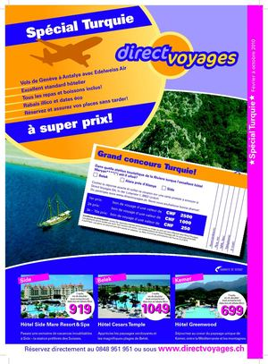 DirectVoyages.ch Catalogue Special Turquie 2010
