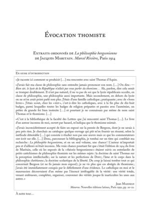 Evocation Thomiste