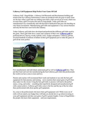 Callaway Golf - Womens Golf Clubs