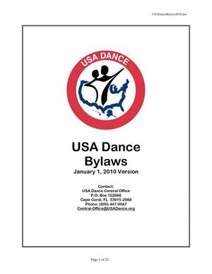 USA Dance Bylaws 2009