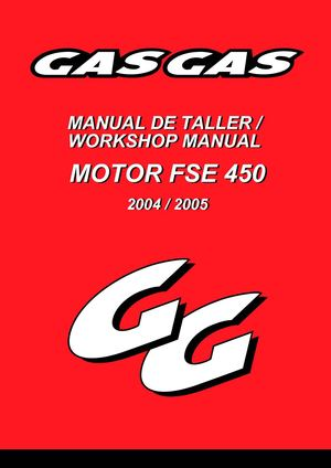 Manual taller motor fse 450 gas gas