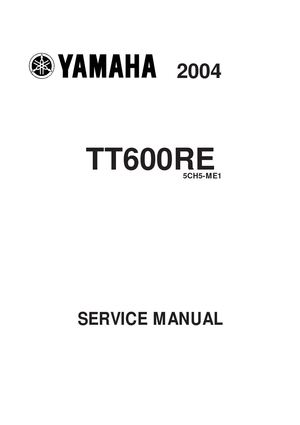 Manual servicio  taller yamaha tt 600 re