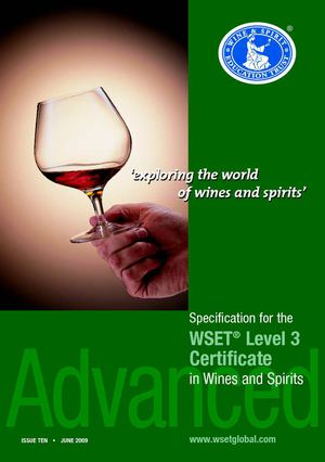 WSET- Advanced Certificate