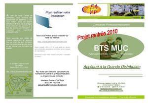 BTS MUC Grande ditribution en alternance