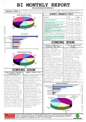 Monthly report Events - Gennaio 2010
