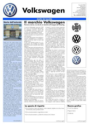 VW Journal: analisi grafica di una brand.