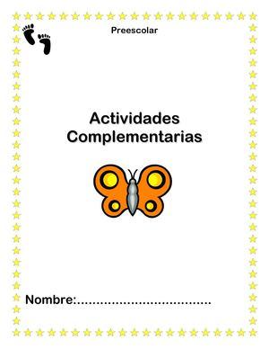 Calaméo - Hojas-de-Trabajo-Actividades-Complementarias-Preescolar