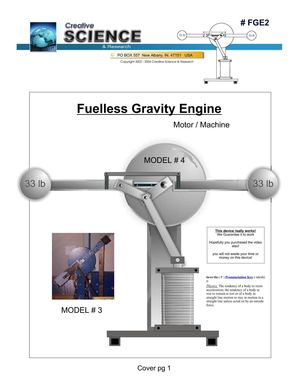 (Ebook - Free Energy) Creative Science & Research - Fuelless Gravity Engine (#FGE2)