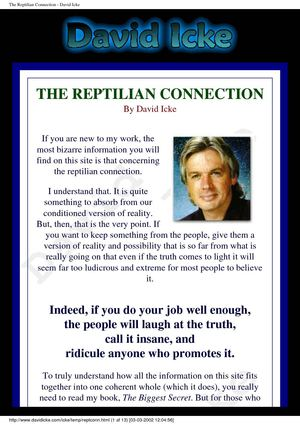 David Icke - The Reptilian Connection