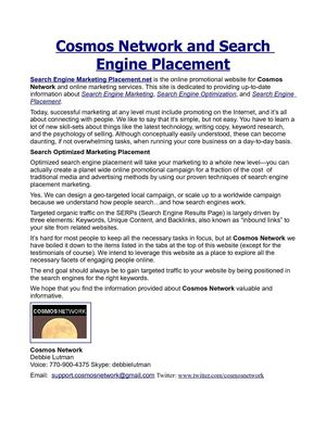 Search Engine Marketing Placement Firm