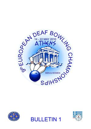 Bulletin of the 9th European Deaf Bowling Championship 2010