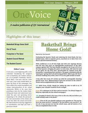 One Voice - Issue 01 - Feb 2010