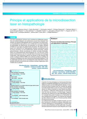 La Microdissection laser en Histopathologie