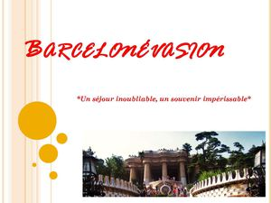 Brochure Barcelonévasion