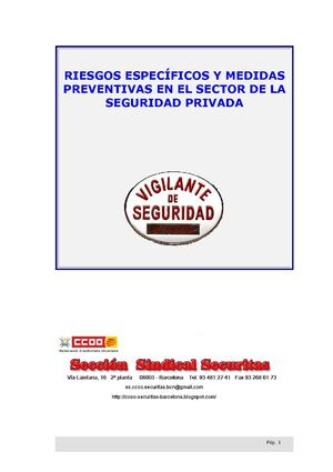 - Prevencion y Riesgos Seguridad Privada