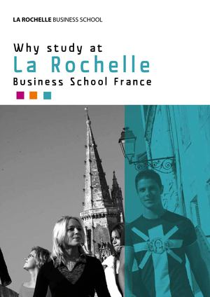 Why Study at La Rochelle