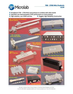Microlab Catalog 700 - 2700 MHz products