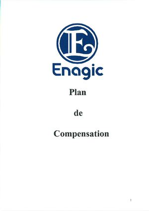 Plan de compensation Enagic