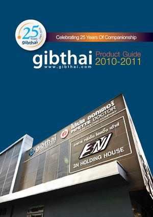 GIBTHAI Product Guide 2010-2011