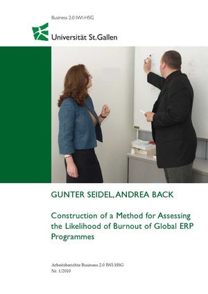 Construction of a Method for Assessing the Likelihood of Burnout of Global ERP Programmes