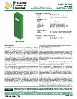 Nitrogen Generator for Fire Sprinkler Systems