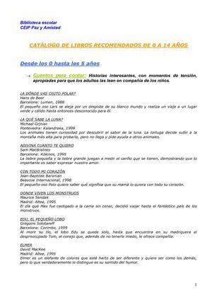 Calaméo - LIBROS RECOMENDADOS 0-14 años