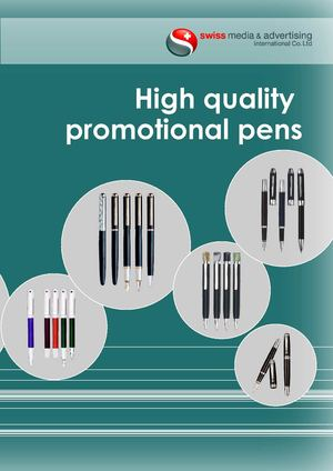 High quality promotional pens catalog