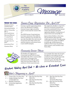 March 2010 Messenger