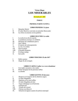 Los miserables de Victor Hugo